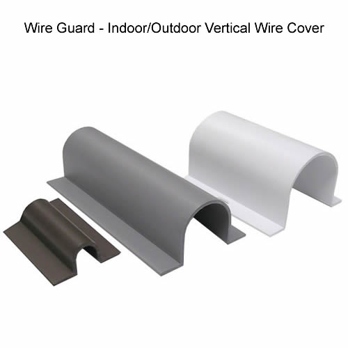 wire guard indoor and outdoor vertical cable covers in dark gray gray and white icon