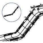 WireRun Powder Coated Cable Trays WR-ADJCN-BK