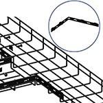 WireRun Powder Coated Cable Trays WR-CNRSBAR-BK