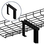 WireRun Powder Coated Cable Trays WR-CTF6-BK