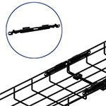 WireRun Powder Coated Cable Trays WR-FASTSPL-BK