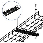 WireRun Powder Coated Cable Trays WR-TRP6-BK