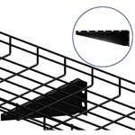 WireRun Powder Coated Cable Trays WR-WLBD6-BK
