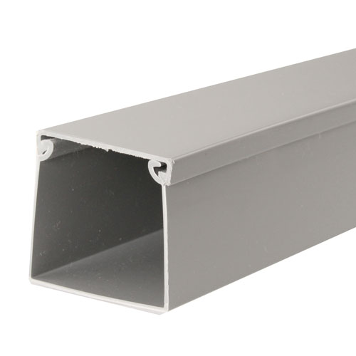 Gray economical solid wall wire duct icon