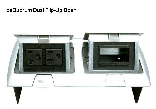 deQuorum Flip-Up Worksurface Portal open icon