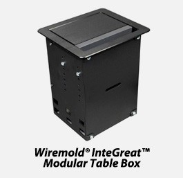 Wiremold integreat modular table box