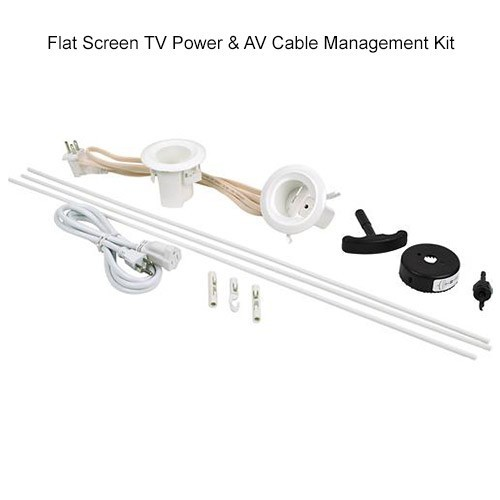 Wiremold Flat Screen TV Power & A/V Cable Management Kit - icon