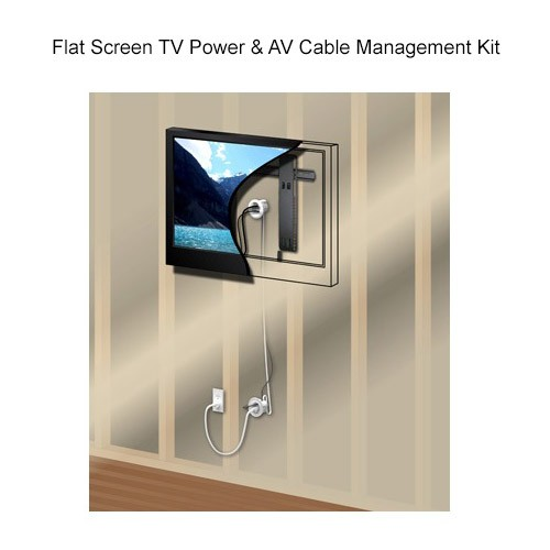 Wiremold Flat Screen TV Power & A/V Cable Management Kit Graphic Representation - icon