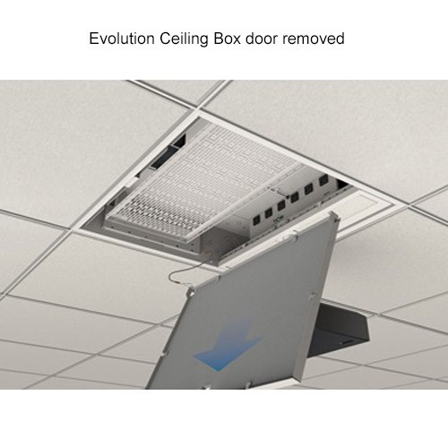 Wiremold Evolution Ceiling Box Door Removed