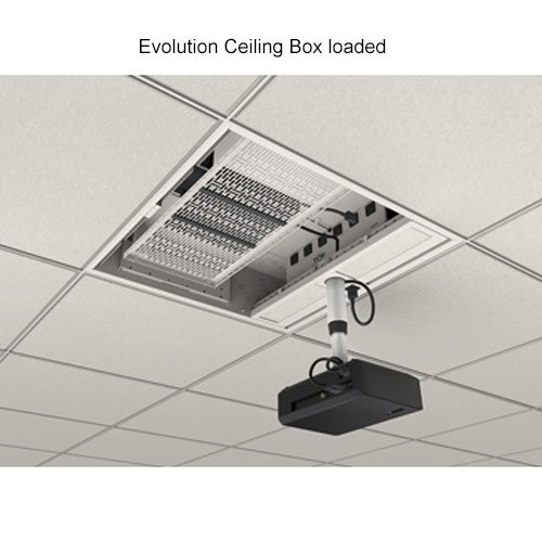 Wiremold Evolution Ceiling Box Loaded