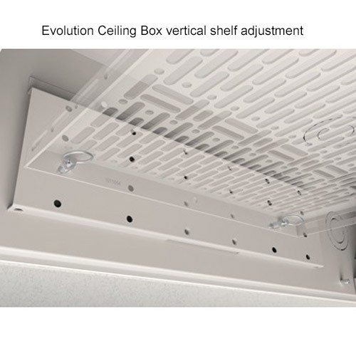 Wiremold Evolution Ceiling Box Vertical Shelf Adjustment
