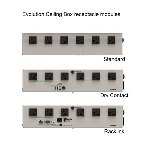 Wiremold Evolution Ceiling Box Power Modules