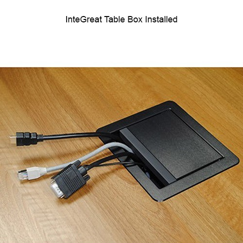 Wiremold InteGreat Table Box Close with Cables