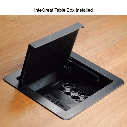 Wiremold InteGreat Table Box with Grommets