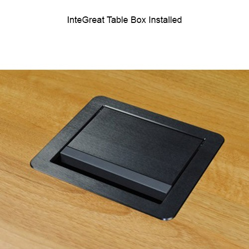 Wiremold InteGreat Table Box Installed