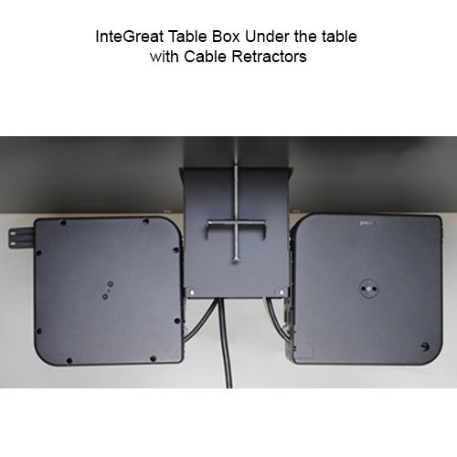 Wiremold InteGreat Table Box Underneath Table with Retractors