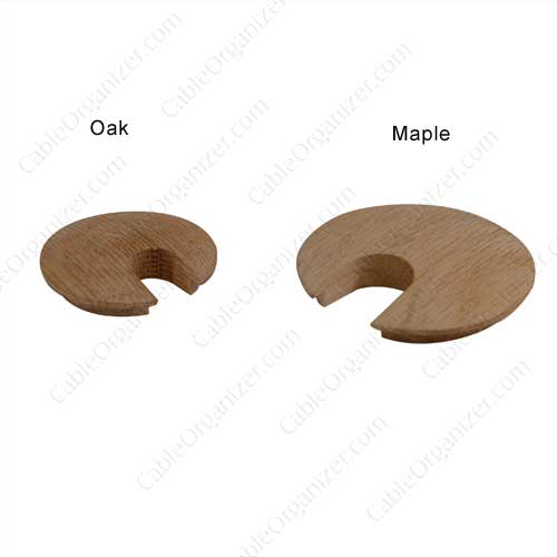 wood grommets, large and small, oak and maple - icon