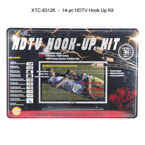 Xtreme Cables 14-pc HDTV hook up kit retail packaging icon