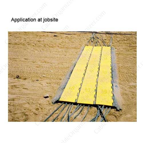 Yellow Jacket cord cover used at a construction site icon