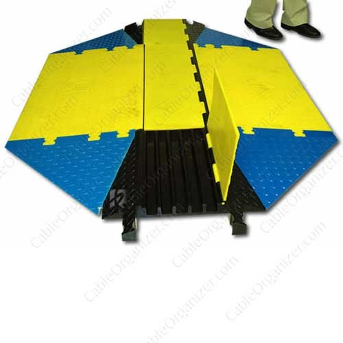 Full image of a Yellow Jacket Wasp cord cover with ADA compliant wheelchair ramps icon